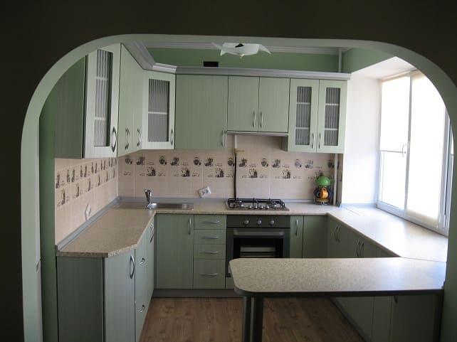 U или П-образная кухня