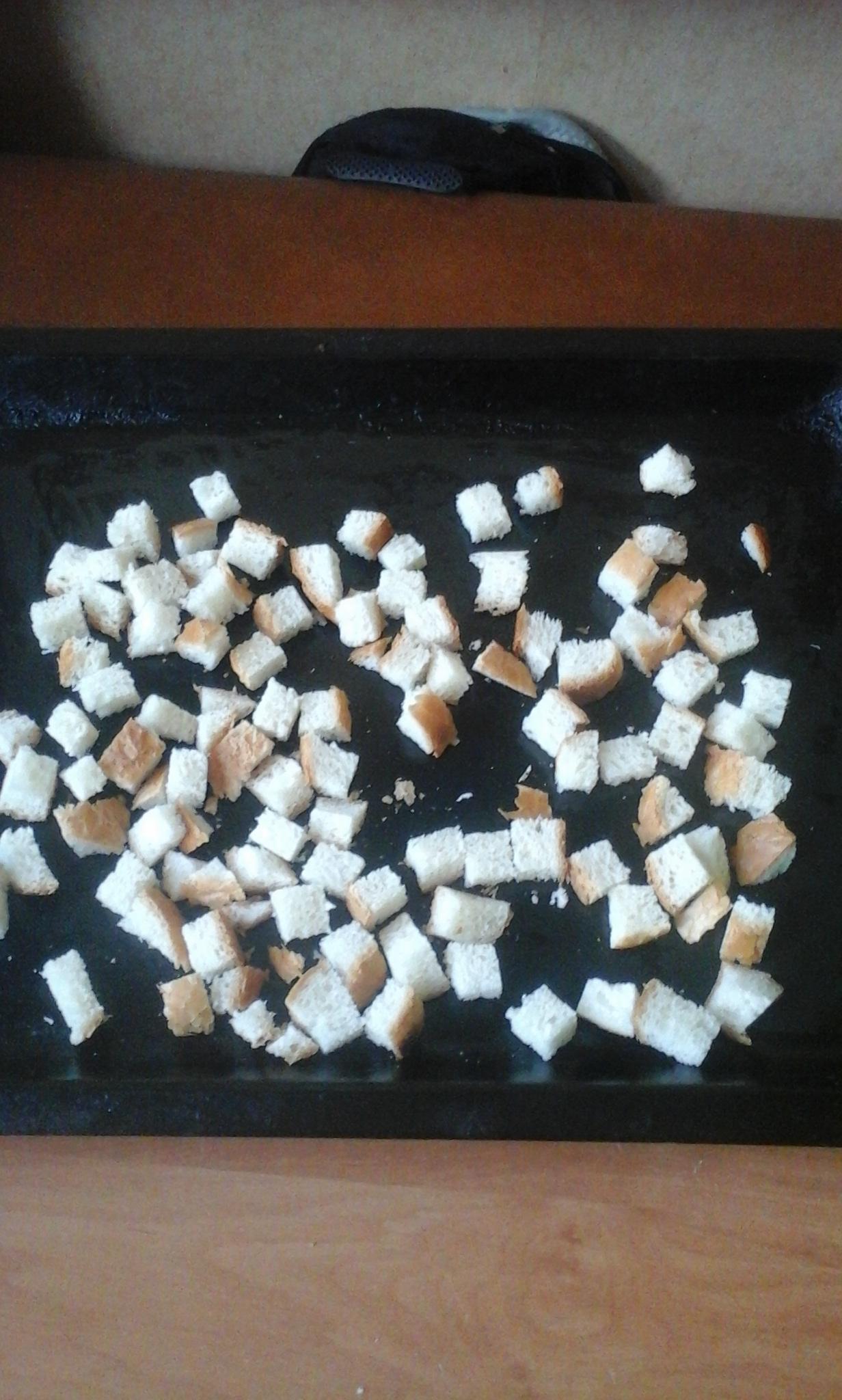 Сухарики белые