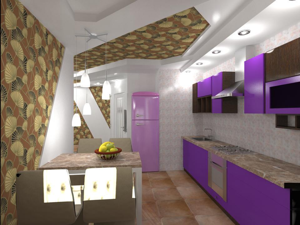 Дизайн кухни в московской планировке