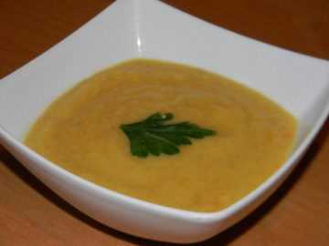 Суп пюре из кабачков с капустой