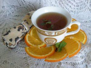 Чай с мятой и апельсином