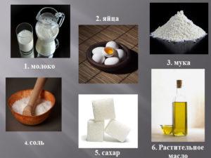 Основа блинов на молоке