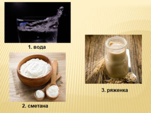 Дополнительные компоненты к биланам на кефире