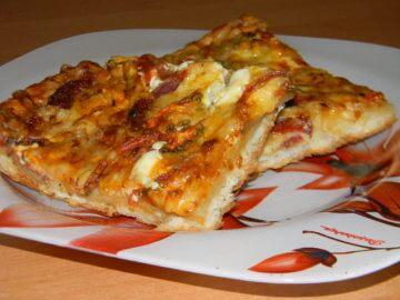 Пицца из готового теста
