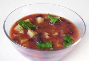 Постный красный суп