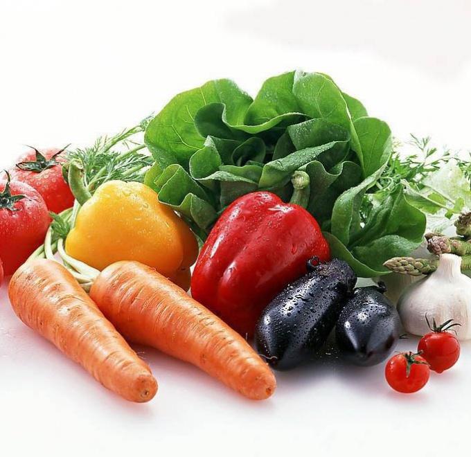 Вес овощей