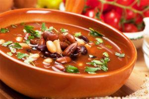 Постный фасолевый суп