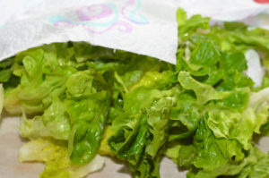 сушим листья салата